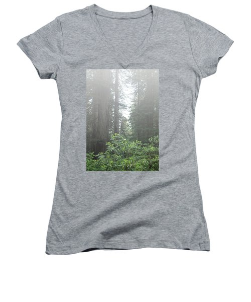 Rhododendrons In The Fog Women's V-Neck
