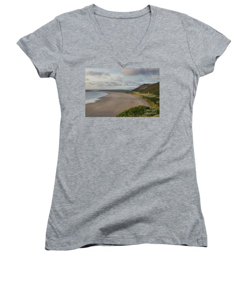 Rhossili Bay, South Wales Women's V-Neck