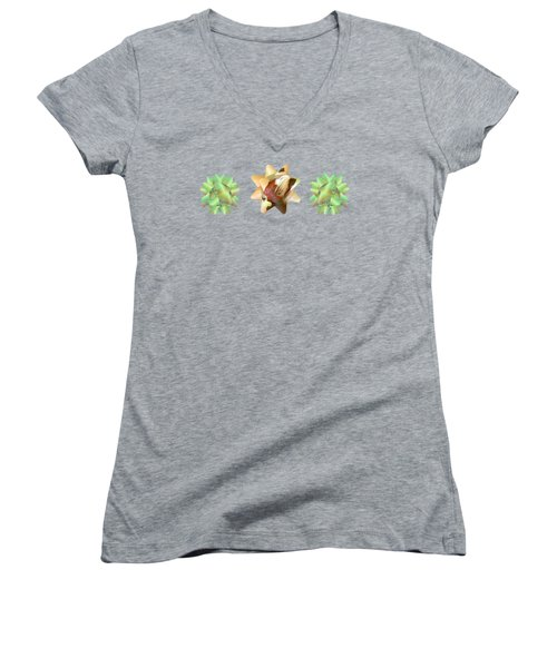 Ribbon Bow Party Series-pony Women's V-Neck (Athletic Fit)
