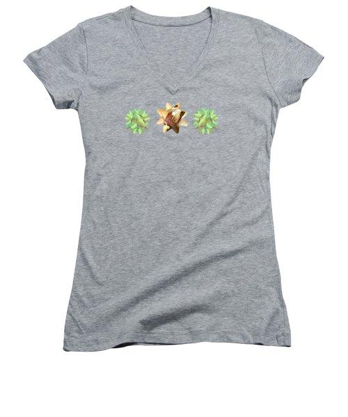 Ribbon Bow Party Series-pony Women's V-Neck T-Shirt