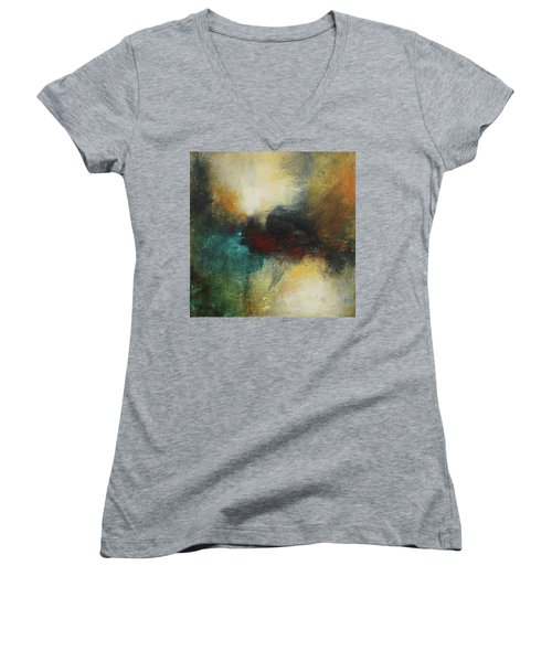Rich Tones Abstract Painting Women's V-Neck