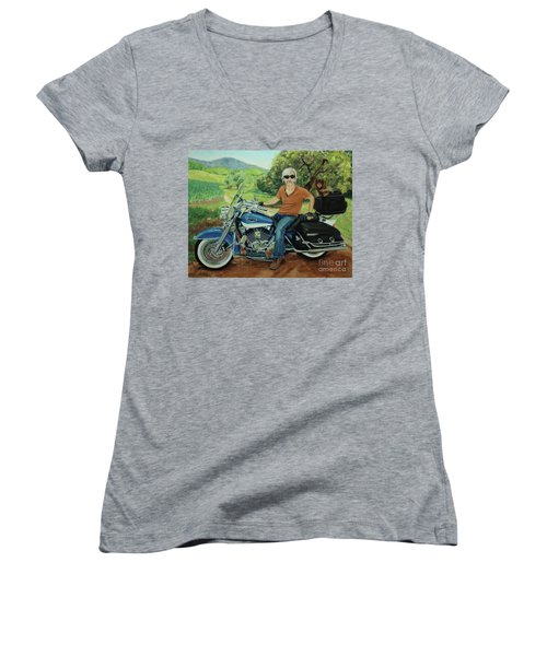 Ride In The Birksire's Women's V-Neck T-Shirt
