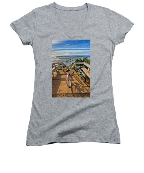 Ride With Me To The Beach Women's V-Neck