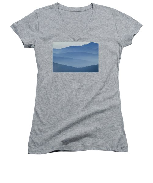 Ridgelines Great Smoky Mountains Women's V-Neck (Athletic Fit)