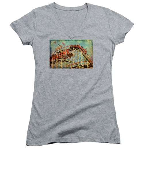Riding The Cyclone Women's V-Neck T-Shirt
