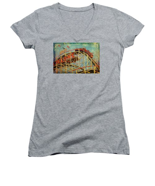 Riding The Cyclone Women's V-Neck