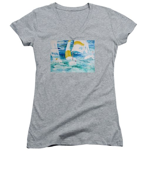 Riding The Wind Women's V-Neck