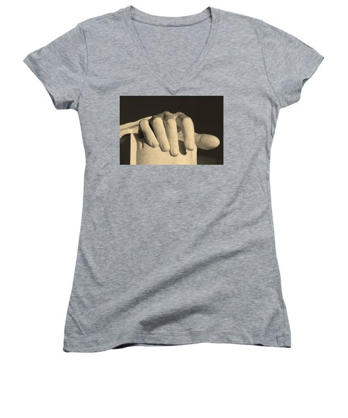 Right Hand Of The Man Women's V-Neck (Athletic Fit)