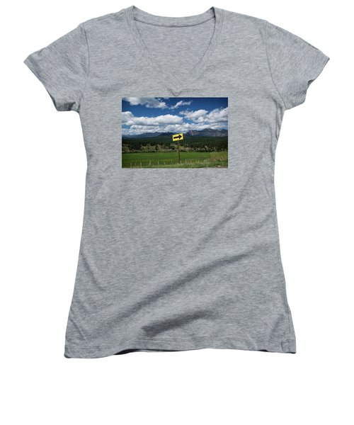 Right This Way Women's V-Neck