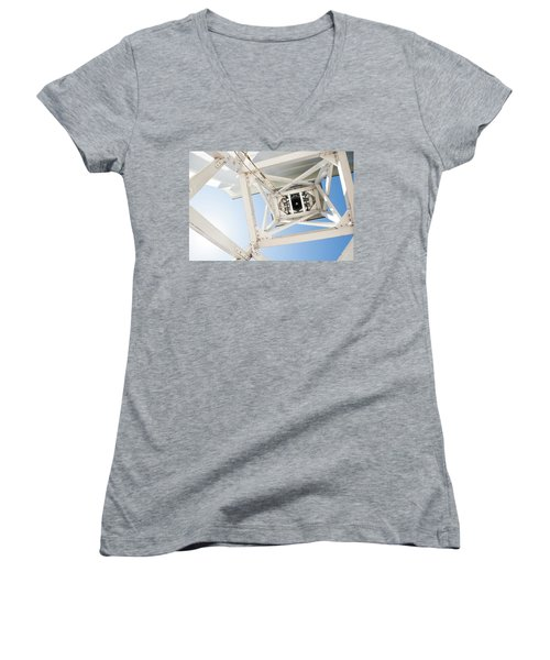 Women's V-Neck T-Shirt (Junior Cut) featuring the photograph Ringing Of The Chapel Bell by Parker Cunningham
