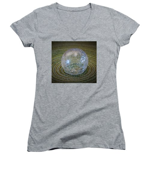 Women's V-Neck T-Shirt (Junior Cut) featuring the photograph Ripple Effect by John Glass