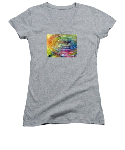 Ripples Women's V-Neck T-Shirt (Junior Cut) by Allison Ashton