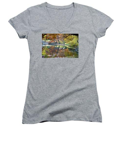 Ripples In An Autumn Lake Women's V-Neck