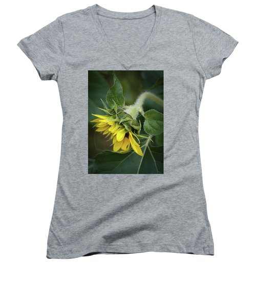 Rising Women's V-Neck T-Shirt (Junior Cut) by Nikki McInnes