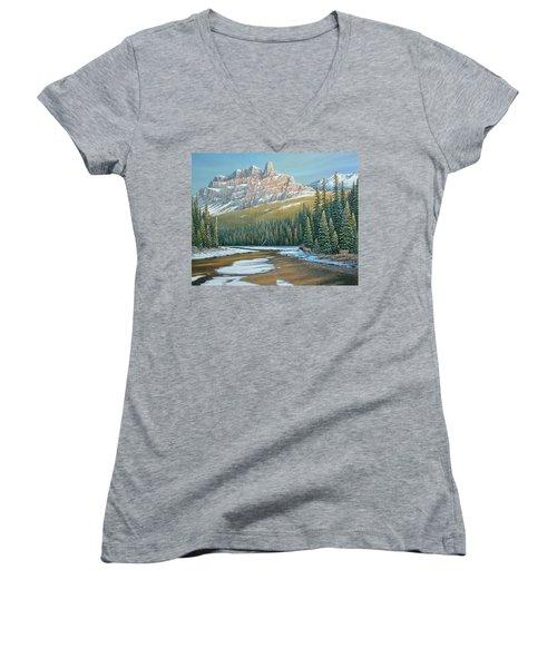 Rising Over The Valley Women's V-Neck T-Shirt