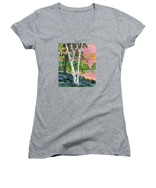 River Birch Women's V-Neck T-Shirt