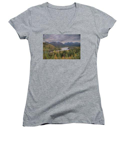 River Of Gold Women's V-Neck T-Shirt