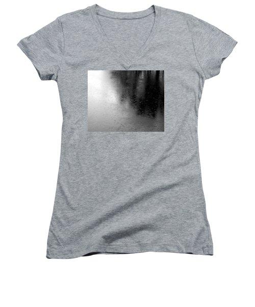 River Rain  Naperville Illinois Women's V-Neck T-Shirt (Junior Cut) by Michael Bessler