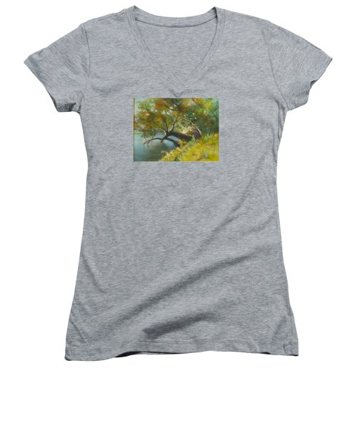 River Reverie Women's V-Neck T-Shirt (Junior Cut)