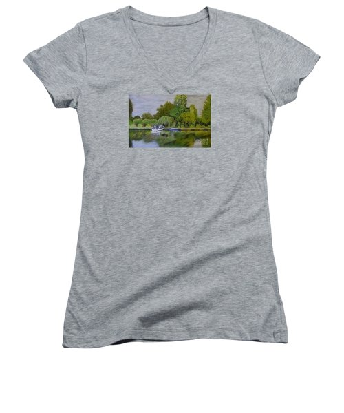 River Thames Hampton Women's V-Neck T-Shirt