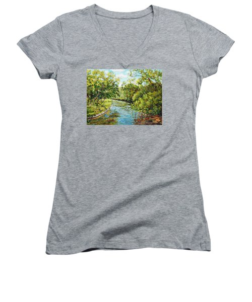 River Through The Forest Women's V-Neck