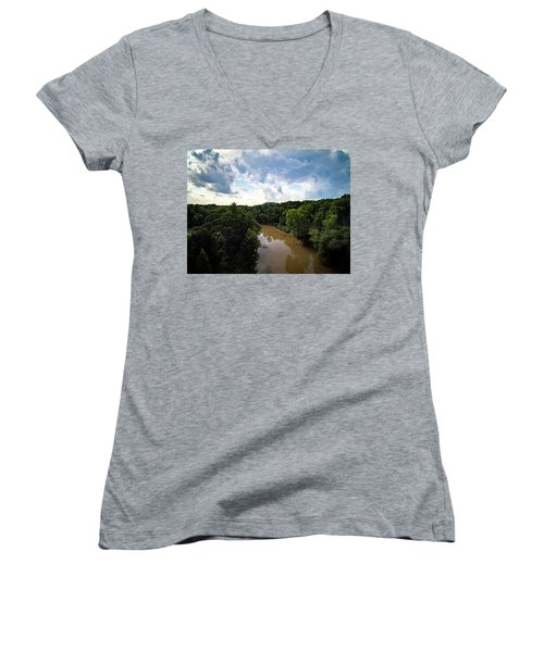 River View From Above Women's V-Neck