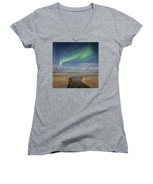 Rivers Women's V-Neck T-Shirt (Junior Cut) by Alex Conu