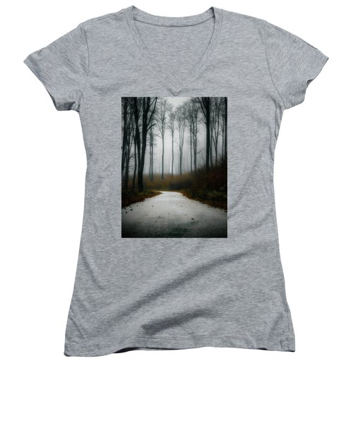 Road In The Fog 07/11/17 Women's V-Neck (Athletic Fit)