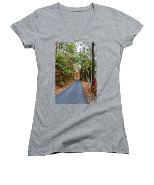 Road In The Woods Women's V-Neck
