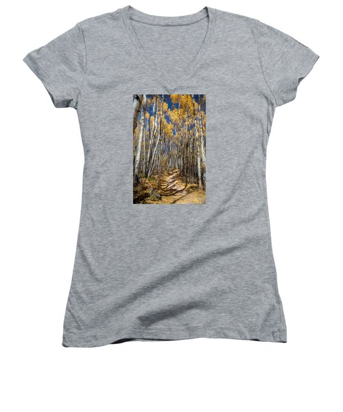Road Through Aspens Women's V-Neck (Athletic Fit)