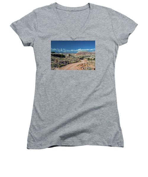 Road To Cathedral Valley Women's V-Neck