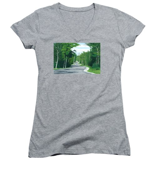 Road To Northport - Summer Women's V-Neck (Athletic Fit)