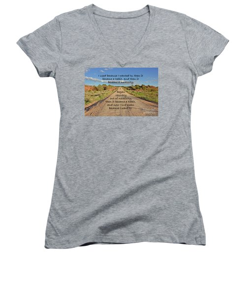 Road To Recovery Women's V-Neck (Athletic Fit)