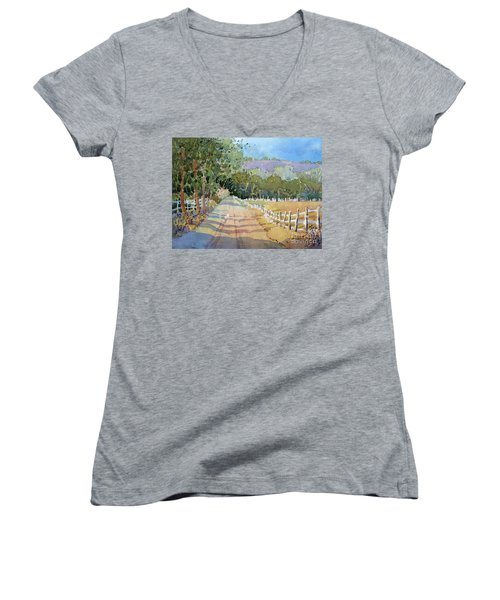 Road To The Vineyard Women's V-Neck (Athletic Fit)