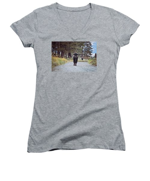 Roadblock Women's V-Neck