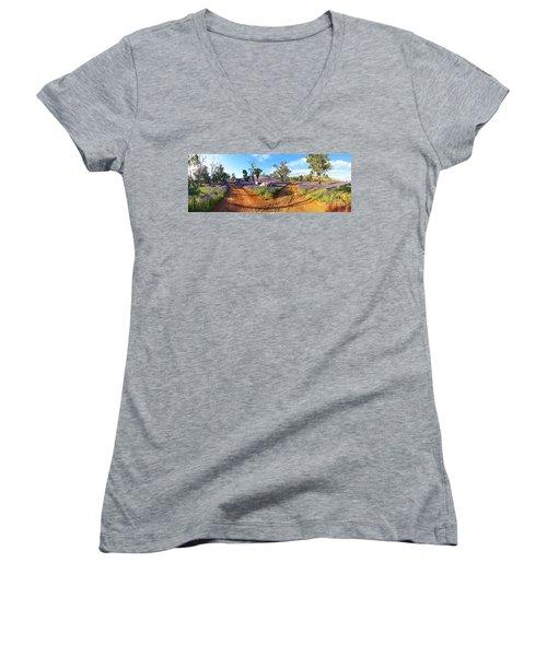 Roads To Salvation Jane Women's V-Neck T-Shirt