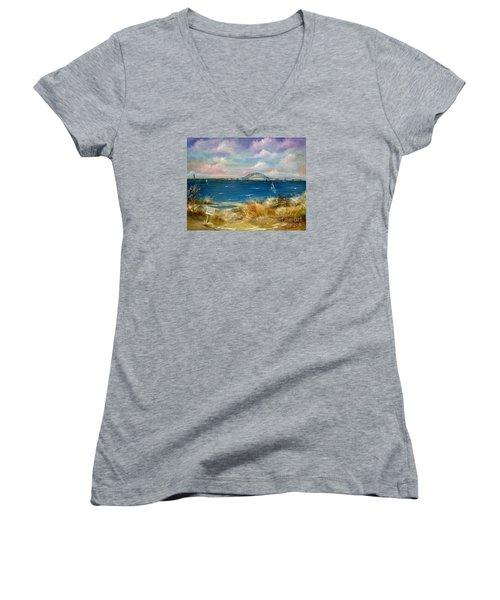 Robert Moses Bridge Women's V-Neck T-Shirt