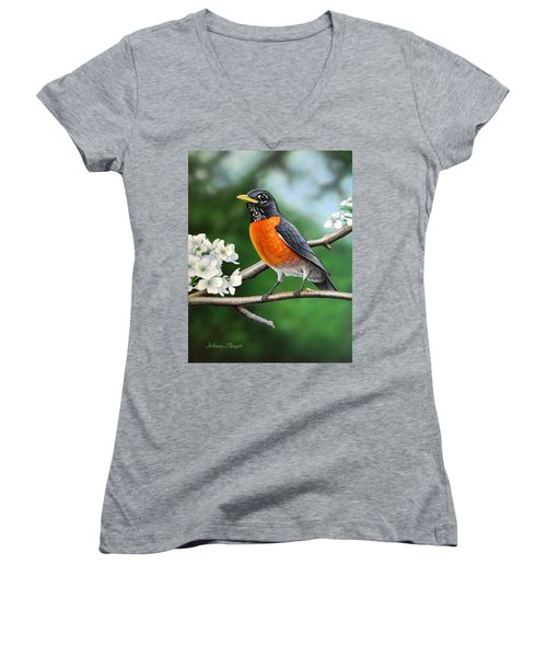 Robin Women's V-Neck