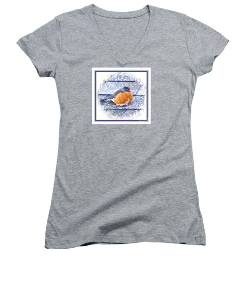 Robin Too Fat To Fly Women's V-Neck (Athletic Fit)