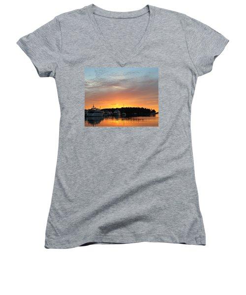 Roche Harbor Sunset Women's V-Neck