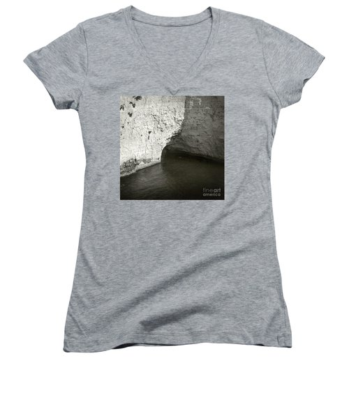 Rock And Water Women's V-Neck T-Shirt (Junior Cut) by Sebastian Mathews Szewczyk