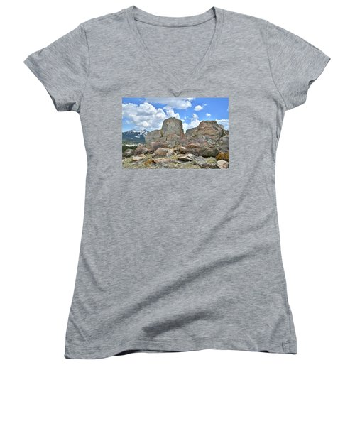 Rock Cropping At Big Horn Pass Women's V-Neck