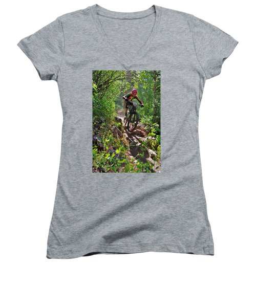 Rock Hopping #30 Women's V-Neck (Athletic Fit)