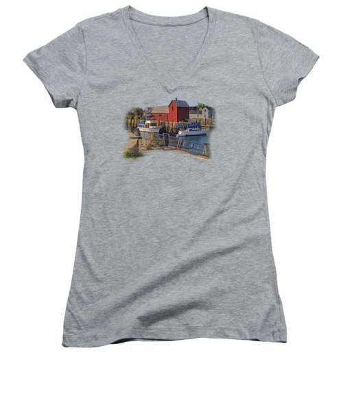 Rockport Waterfront Women's V-Neck (Athletic Fit)