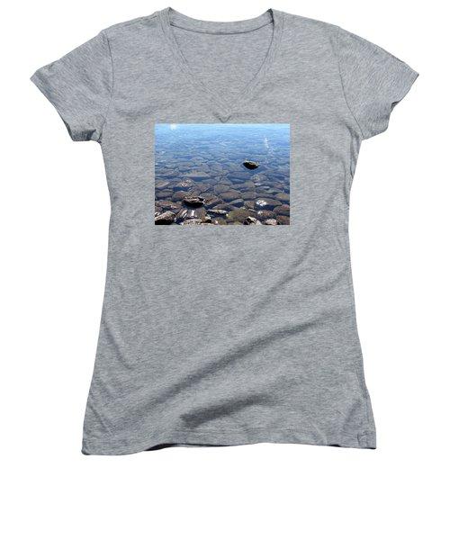 Rocks In Calm Waters Women's V-Neck