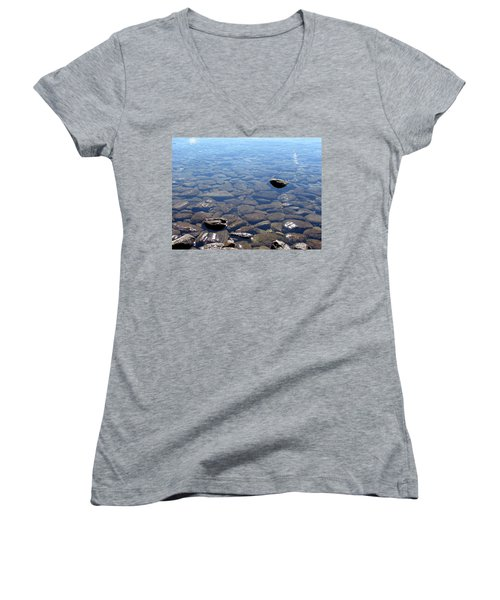 Rocks In Calm Waters Women's V-Neck