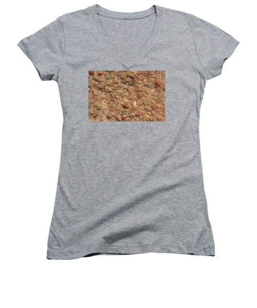 Women's V-Neck T-Shirt (Junior Cut) featuring the photograph Rocky Beach 4 by Nicola Nobile