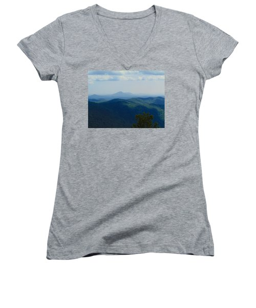 Rocky Mountain Overlook On The At Women's V-Neck