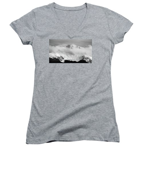 Rocky Mountain Snowy Peak Women's V-Neck