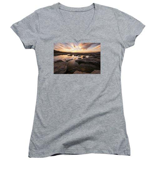 Rocky Shores Of Utah Lake Women's V-Neck